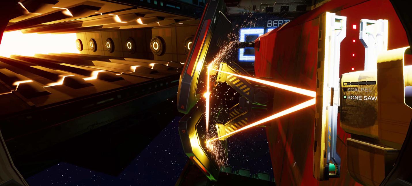 Геймплей симулятора космического утилизатора Hardspace: Shipbreaker с комментариями
