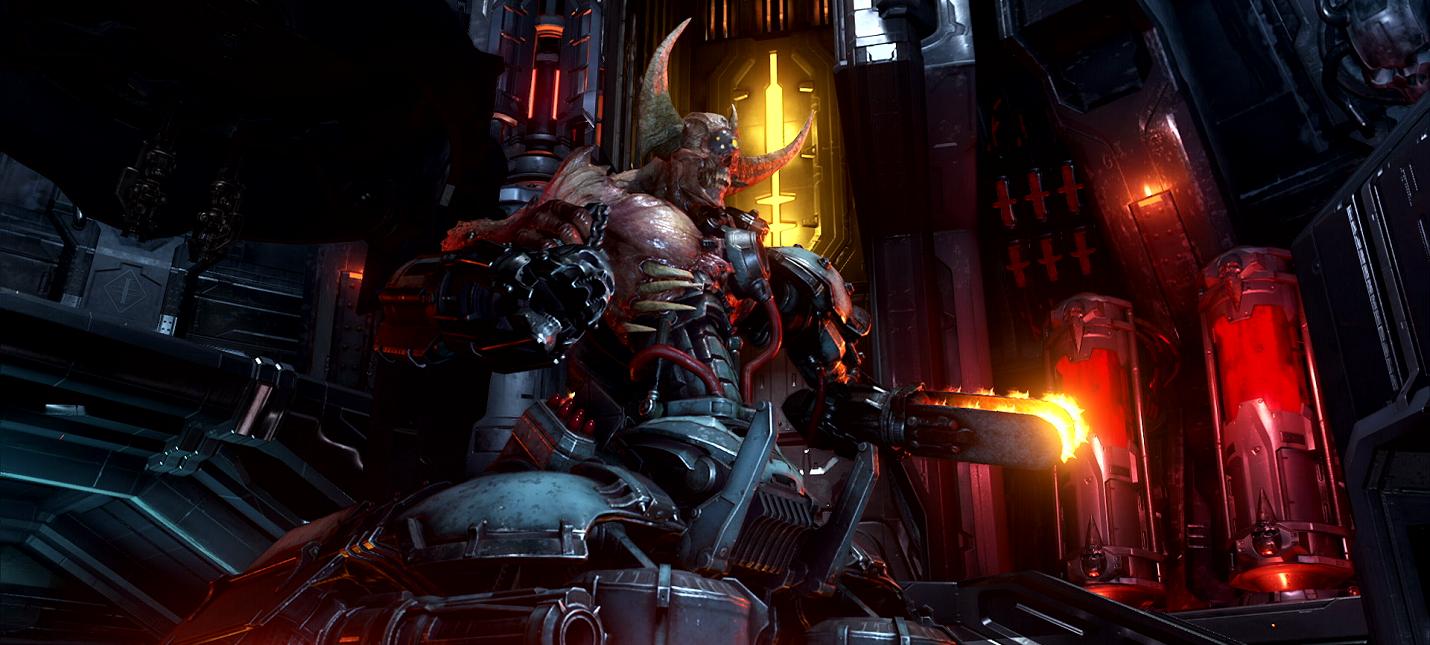 Сражение с Охотником Рока в новом геймплее Doom Eternal