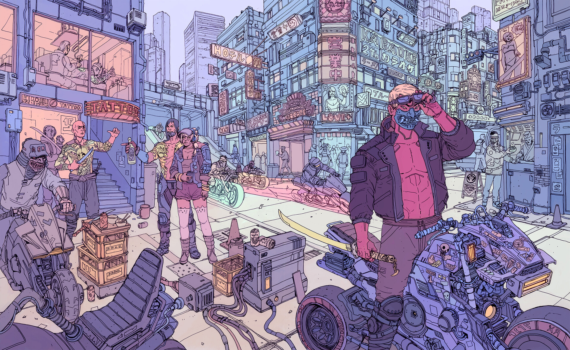 Новая информация об одной из банд Cyberpunk 2077 — Tyger Claws