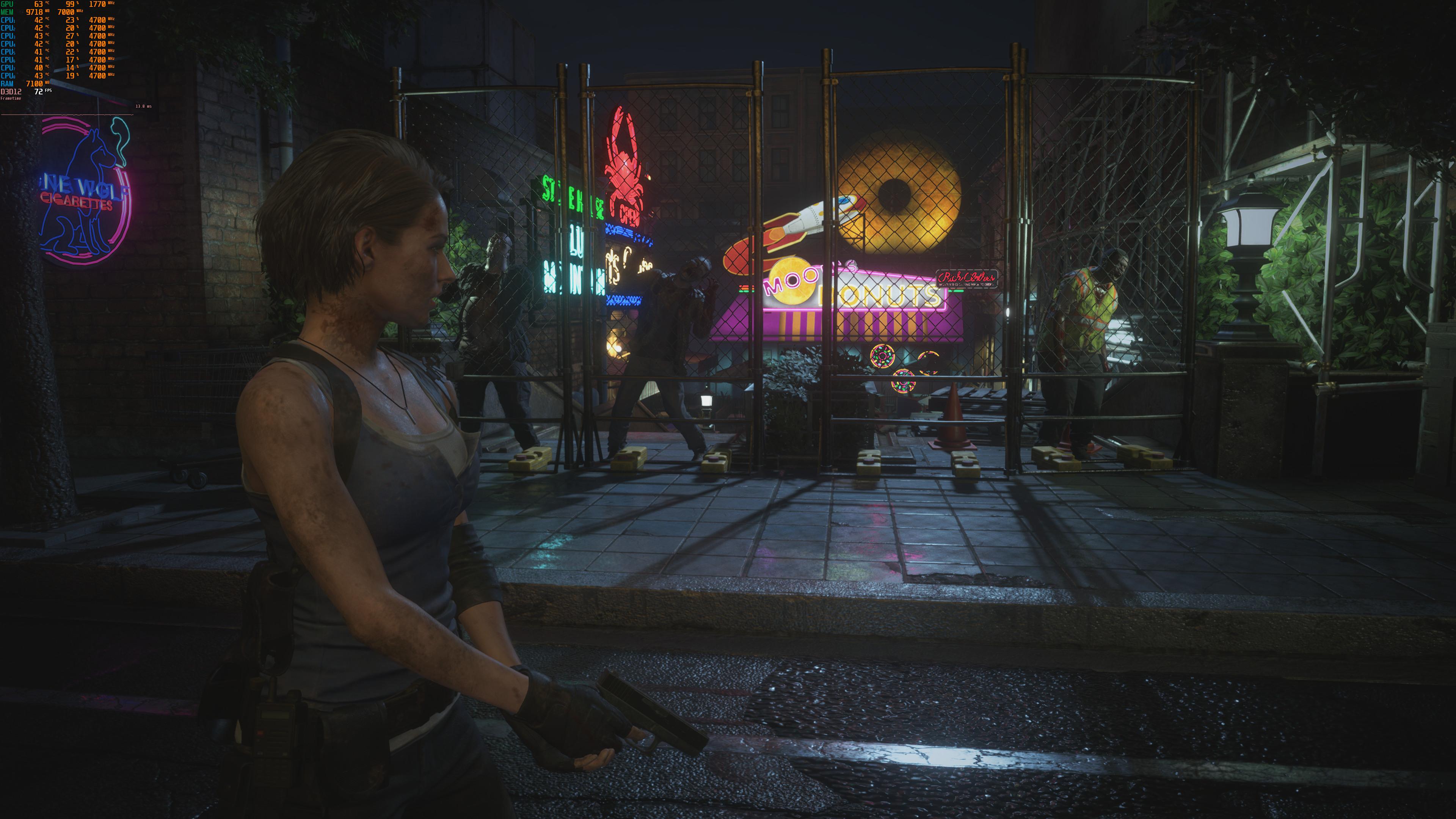 4K-скриншоты Resident Evil 3 с максимальными настройками графики