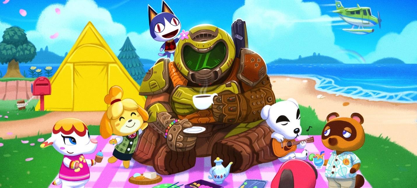 Думслеер и Изабель уничтожают демонов в фанатском кроссовере Animal Crossing и DOOM Eternal