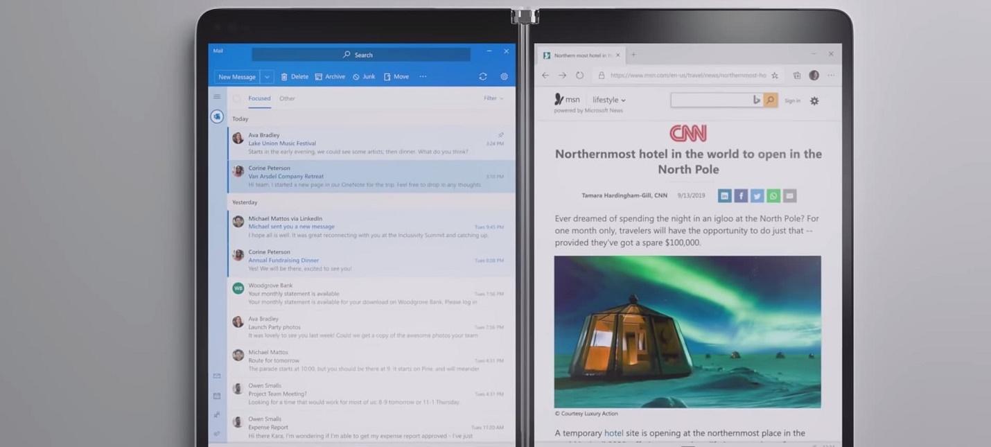 Запуск Windows 10X и гибридного ноутбука Surface Neo отложили до 2021 года