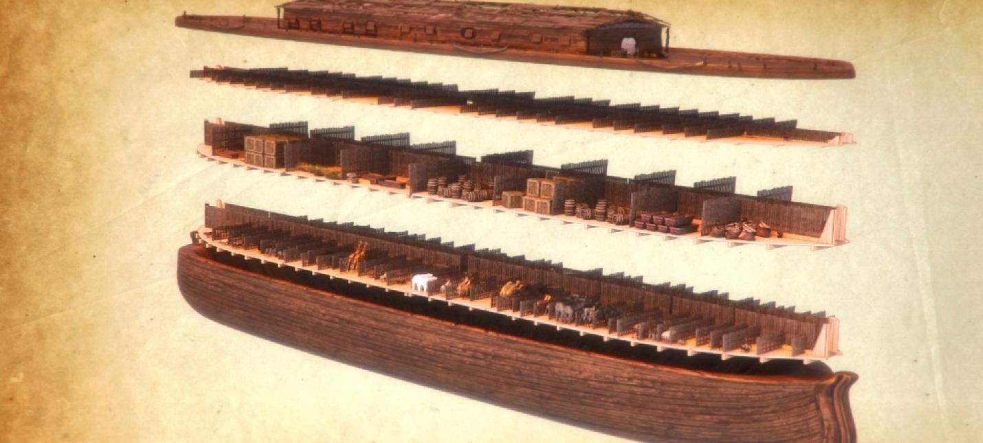 Строительство Ноева Ковчега в первом трейлере странного симулятора Noah's Ark