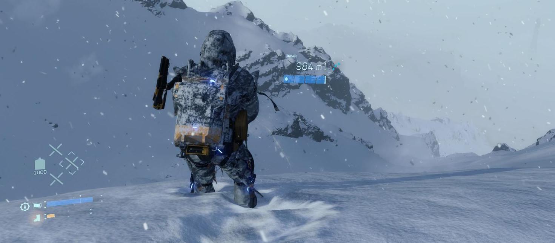 Игрок Death Stranding написал свое имя на снегу мочой