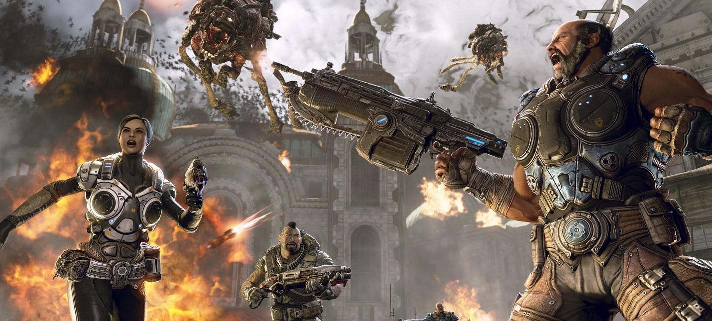 Вторжение Локустов в стартовом геймплее Gears Tactics