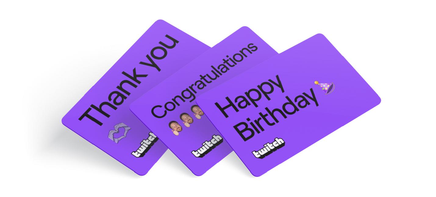 Twitch начал продавать подарочные карты