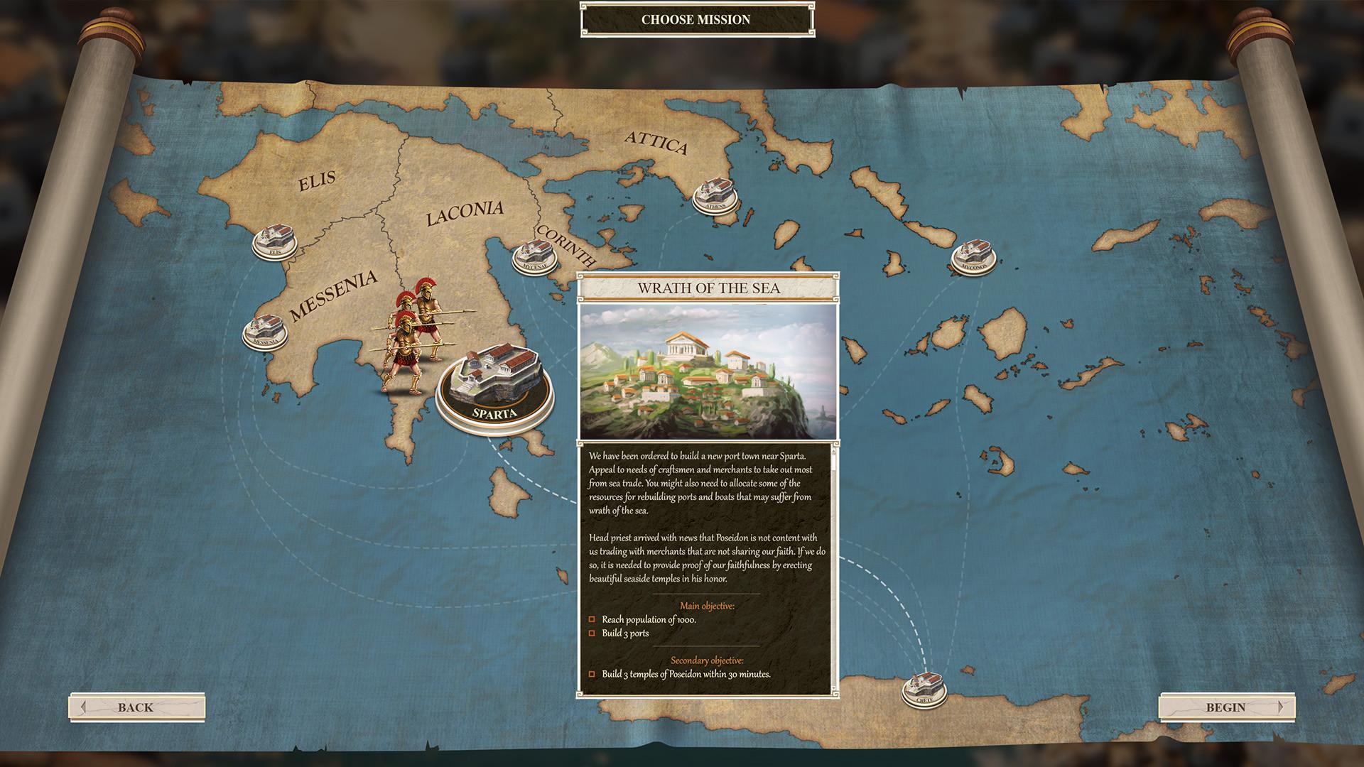 Первый тизер градостроительной стратегии Builders Of Greece про Древнюю Грецию