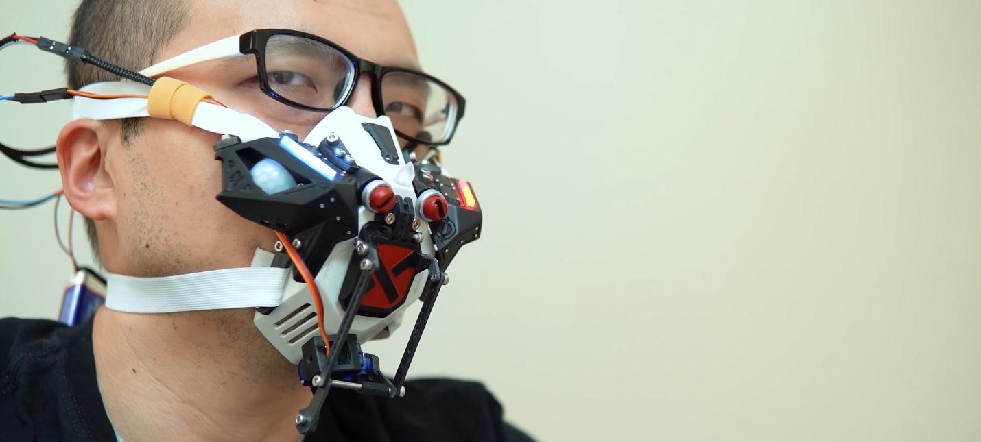 Энтузиаст создал робомаску, которая закрывается, когда рядом люди
