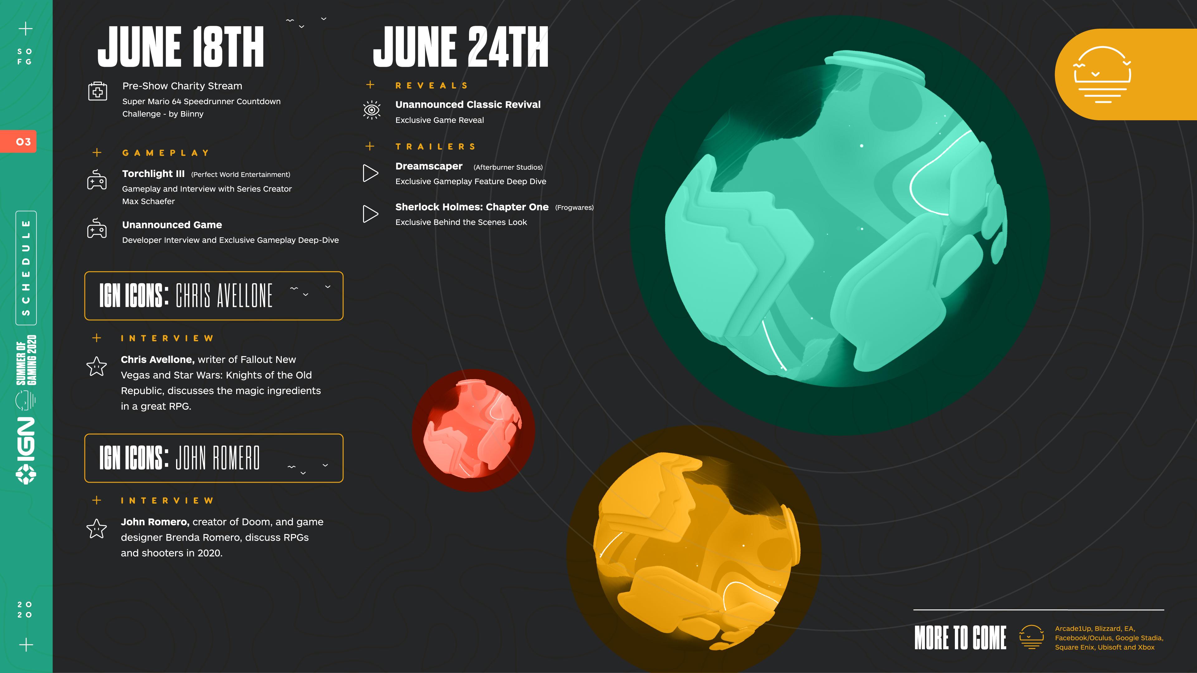 Полное расписание Summer of Gaming от IGN