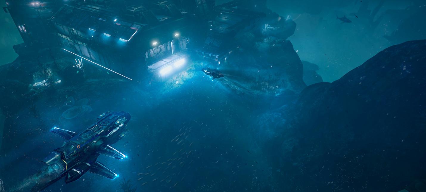 Новый геймплей подводного шутера Aquanox Deep Descent