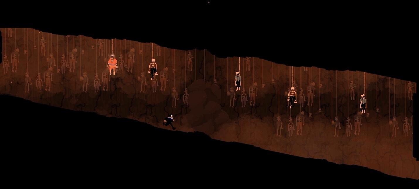 Быстрое уничтожение врагов в геймплее пиксельного экшен-платформера Olija