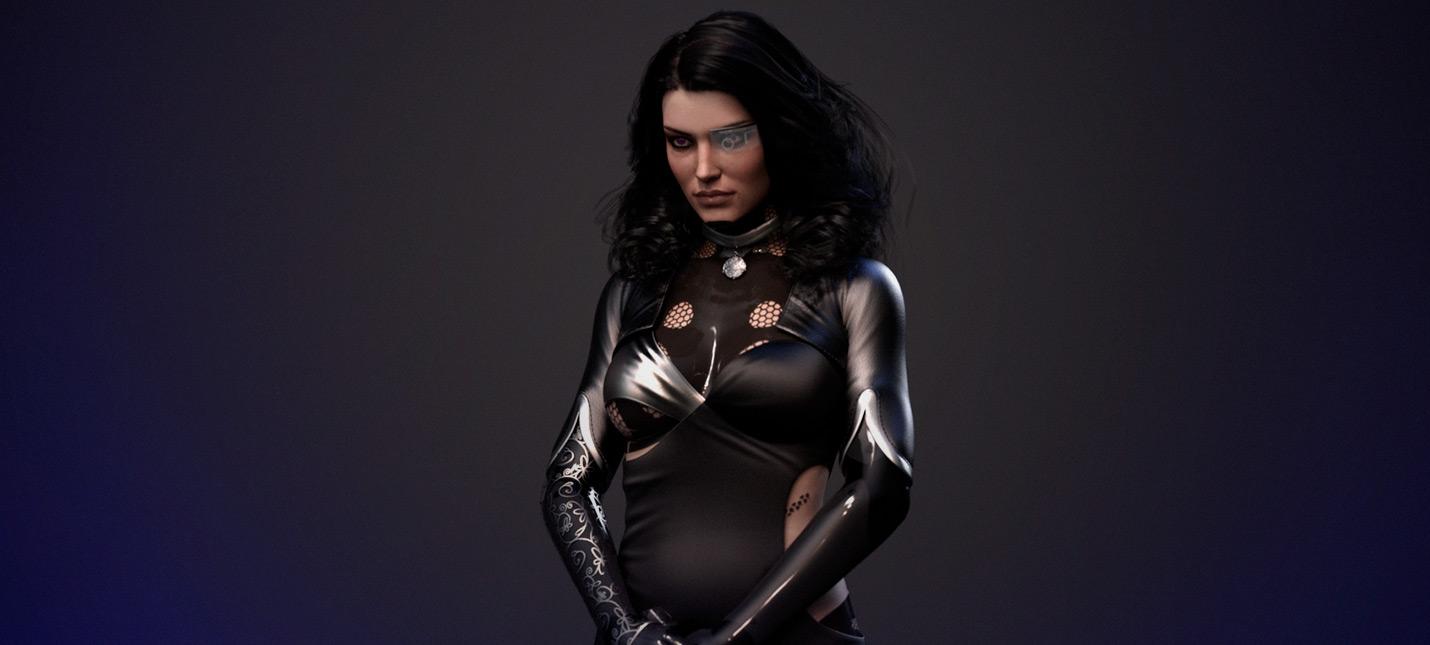 Фанат создал Йеннифэр в виде корпоративного агента из Cyberpunk 2077