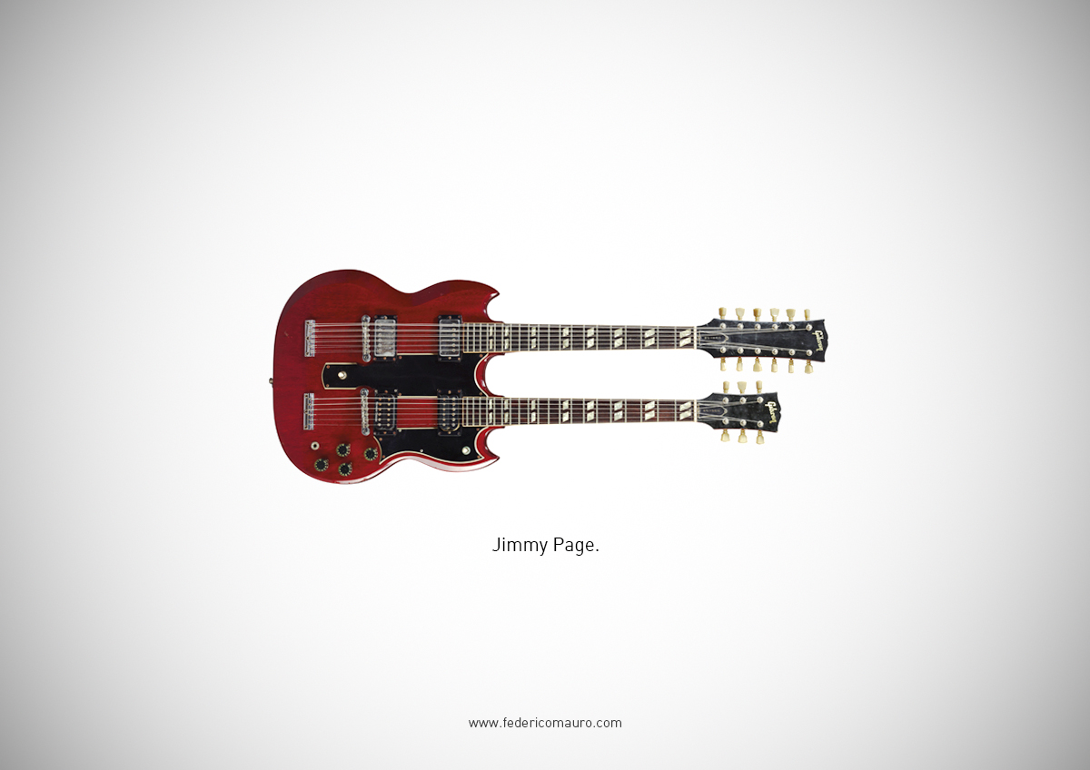 Famous Guitars Played By Iconic Musicians And Rock Stars.