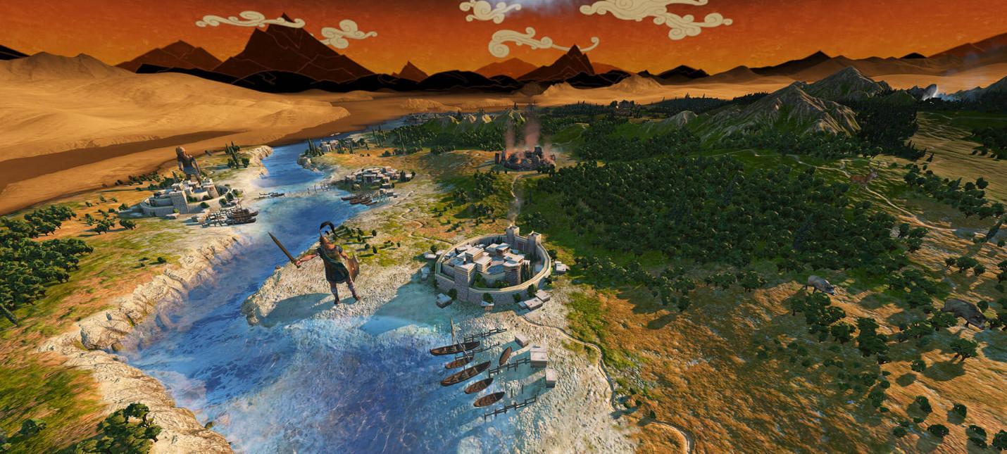 Новый трейлер Total War Saga Troy посвящен системе торговли