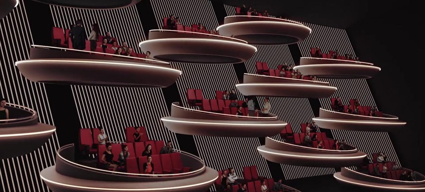 """Этот дизайн парижского кинозала напоминает зал сената из """"Звездных войн"""""""