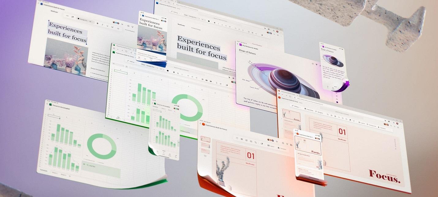 Microsoft показала концепт будущего дизайна Office