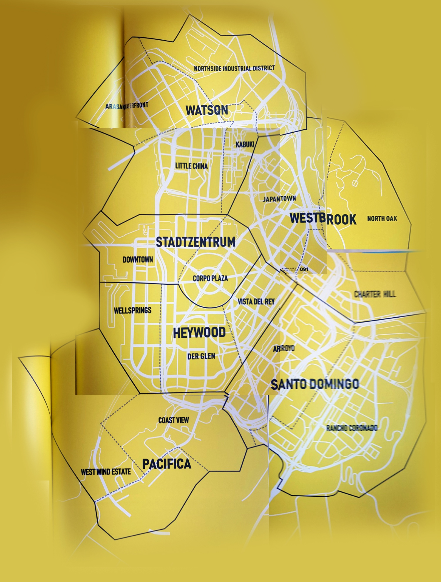 Арты с Джуди и карта Найт-Сити из официального артбука по Cyberpunk 2077