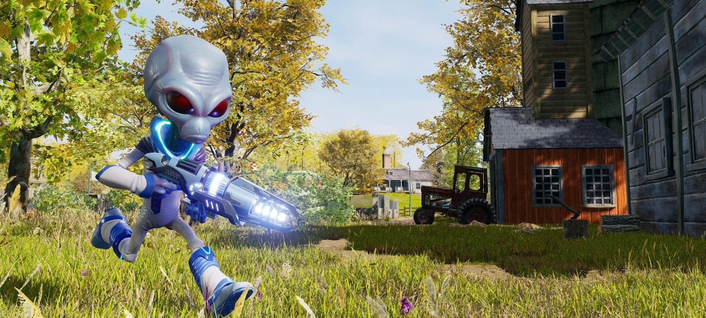 Прибытие на Землю и геймплей во вступительном ролике Destroy All Humans