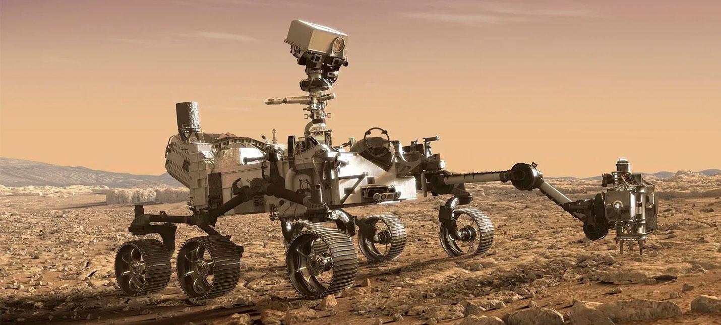 """Прямой эфир с запуска нового марсохода NASA """"Персеверанс"""", оснащенного летающим дроном"""