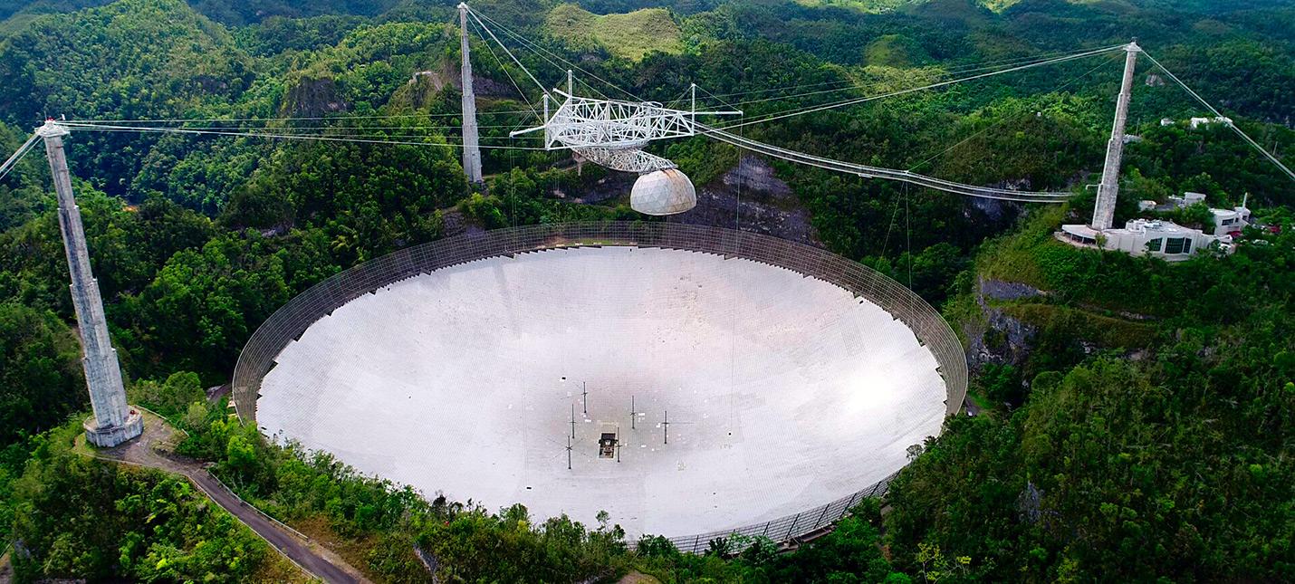 300-метровый радиотелескоп Аресибо получил серьезные повреждения