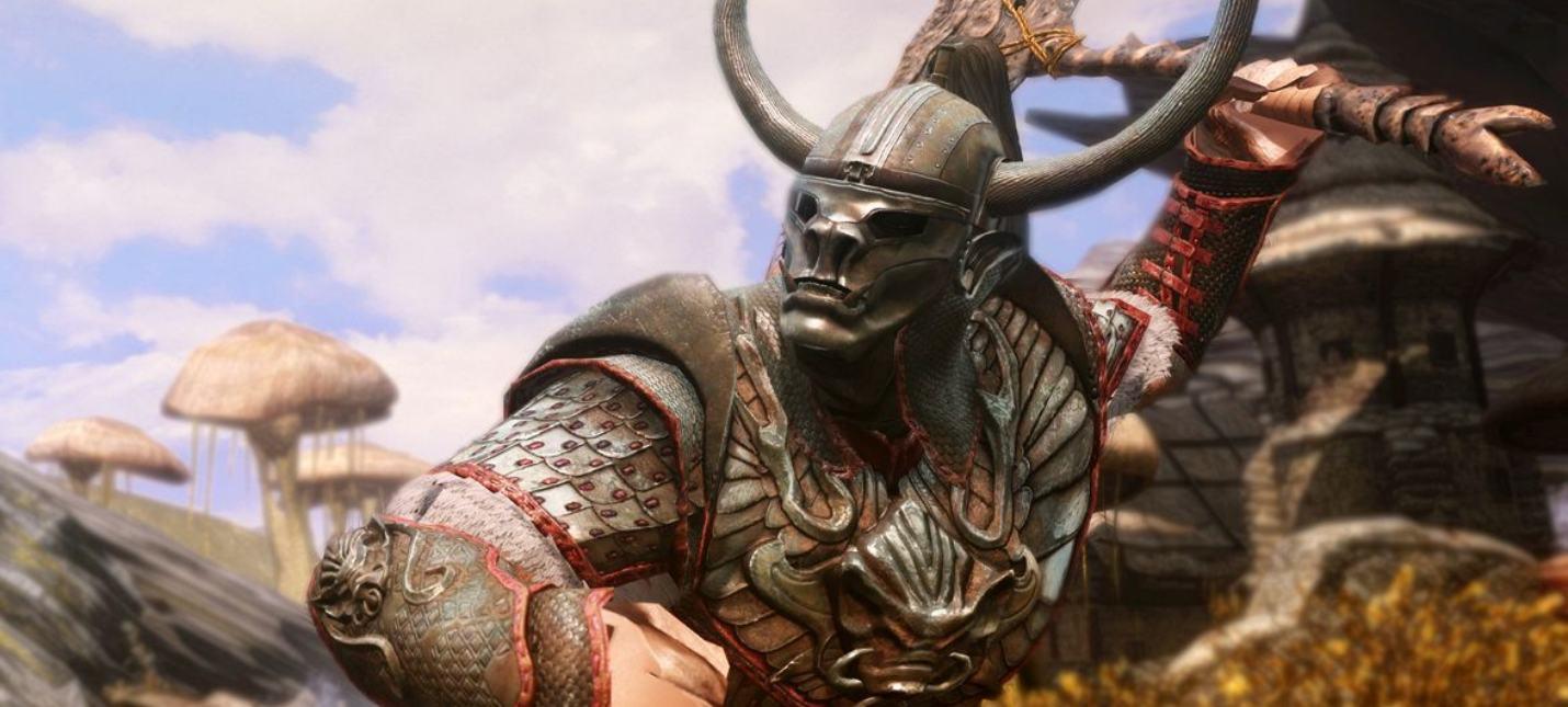 Битва в Нчурдамце в новом геймплее Skywind
