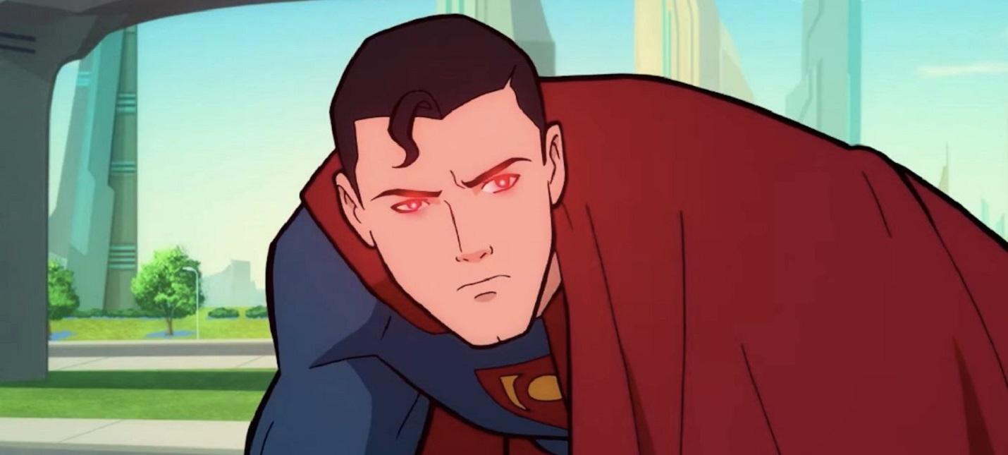 Прибытие Лобо в отрывке из мультфильма Superman Man of Tomorrow