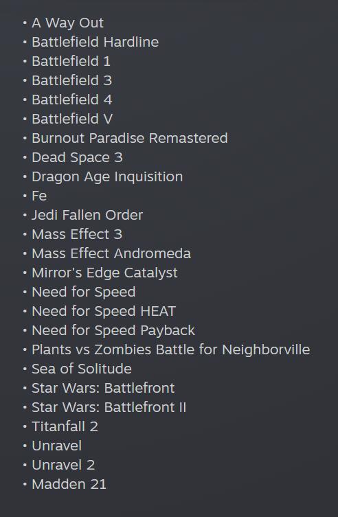 EA добавила более 1000 достижений в Steam-версии своих игр