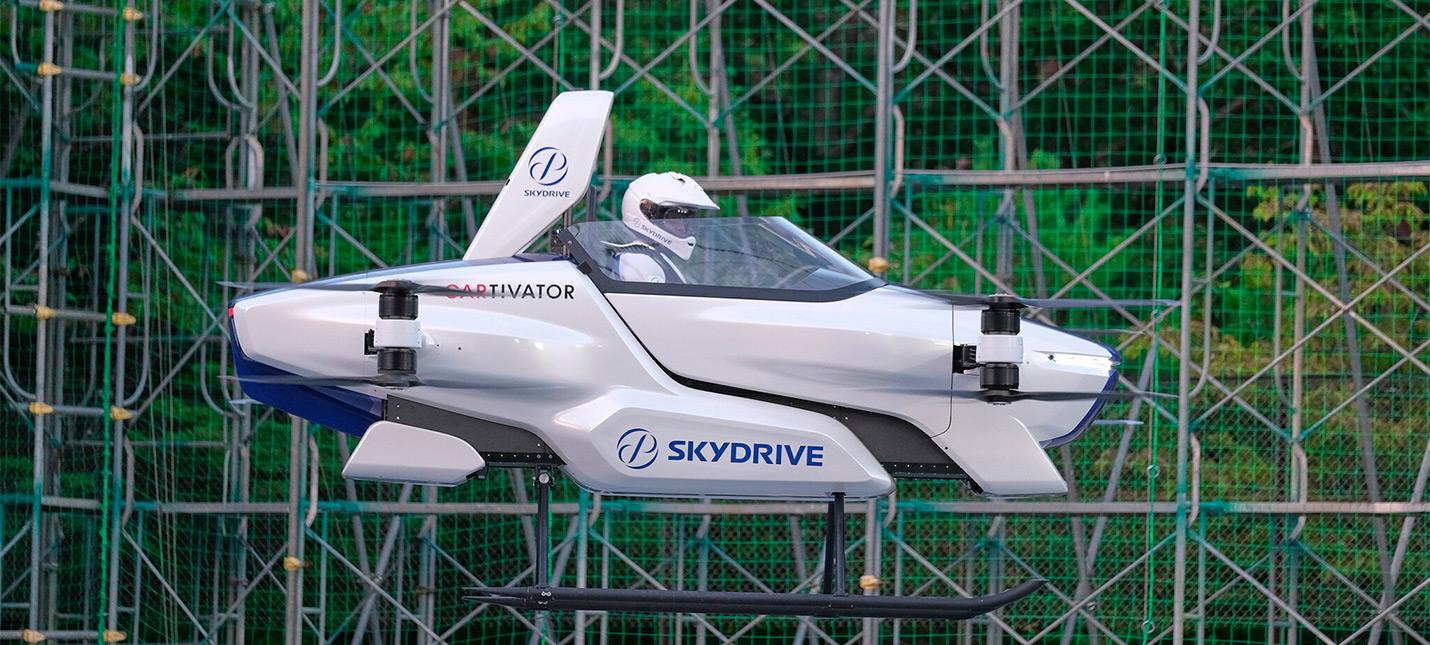 """Посмотрите видео первого тестового полета летающего """"автомобиля"""" SkyDrive"""