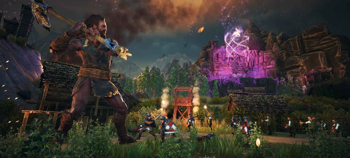 Средневековый гигант сносит деревни и убивает людей в трейлере и геймплее необычного экшена Giants Uprising