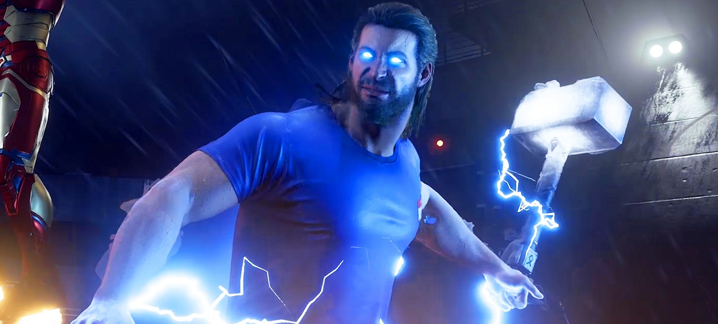 Бог грома — 14 минут геймплея Marvel's Avengers за Тора
