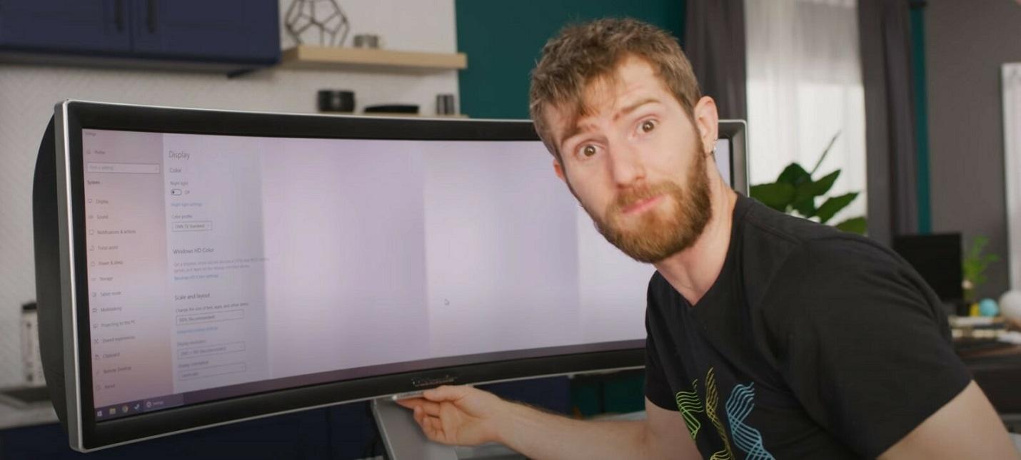 Linus Tech Tips заплатил 6 тысяч долларов за уникальный монитор от Alienware