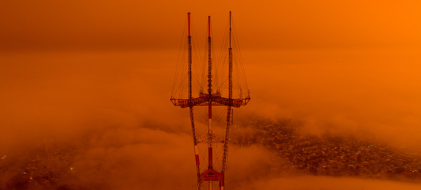 Сан-Франциско стал похож на Марс из-за лесных пожаров в Калифорнии