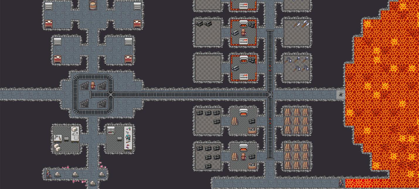 Разработчики Dwarf Fortress показали новые элементы интерфейса на примере храма сэндвичам