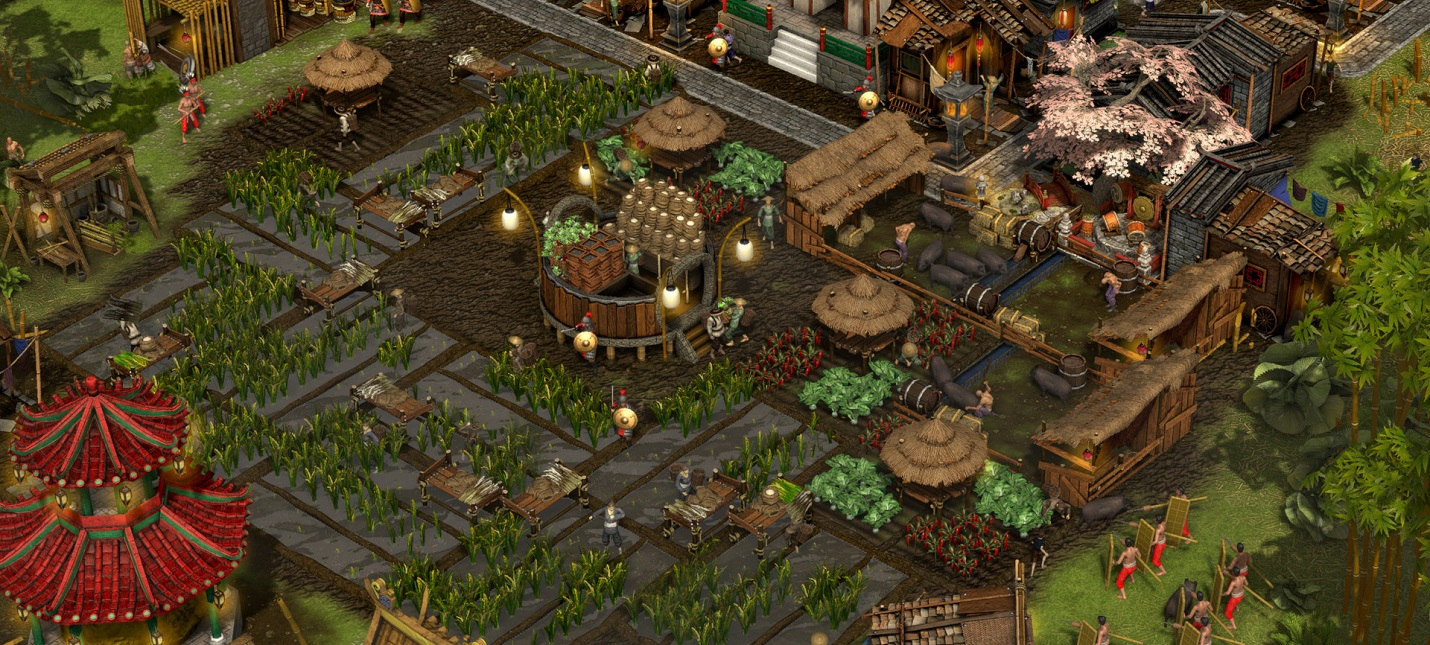 20 минут экономического геймплея Stronghold Warlords