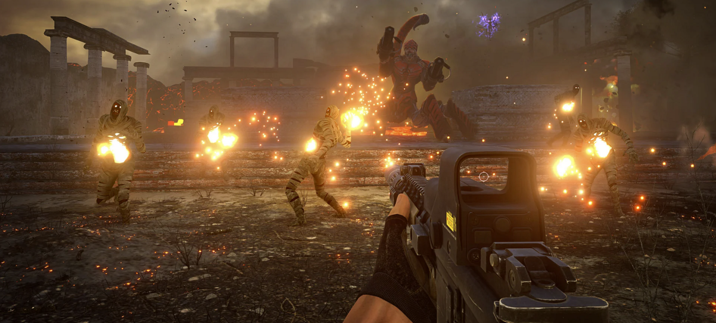 Система Legion в деле  тысячи врагов в геймплейном отрывке Serious Sam 4