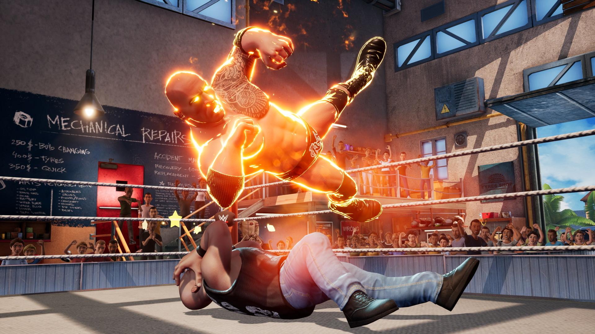 Мультяшная клякса Обзор WWE 2K Battlegrounds