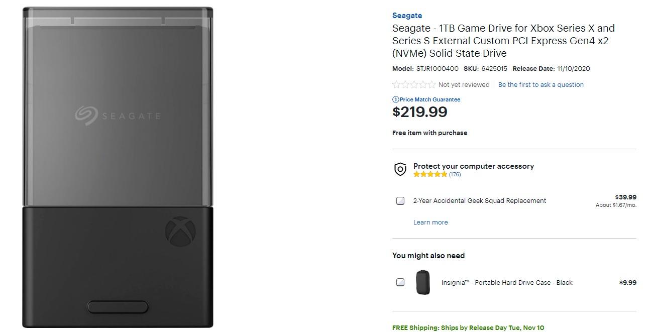 Карта расширения памяти на 1 ТБ для Xbox Series X/S действительно обойдется в $220