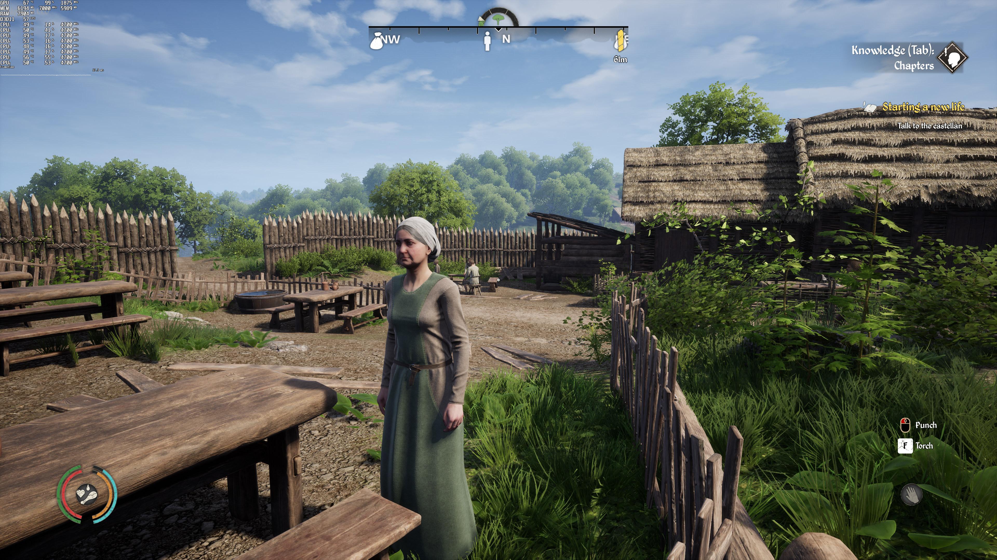 4K-скриншоты и тесты производительности сурвайвала Medieval Dynasty