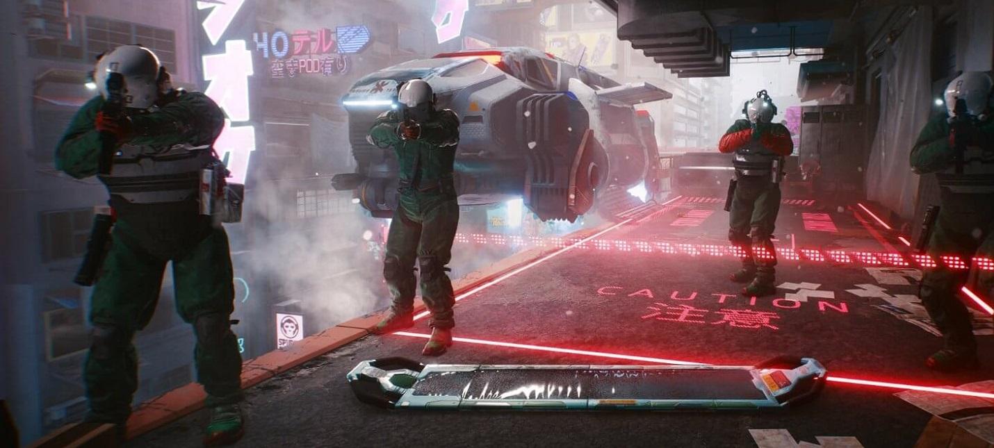 Высокий уровень проработки сцены в новом геймплее Cyberpunk 2077