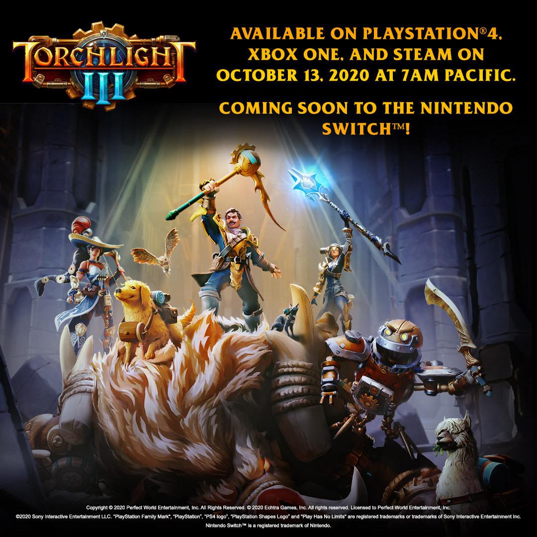 Torchlight III выйдет 13 октября