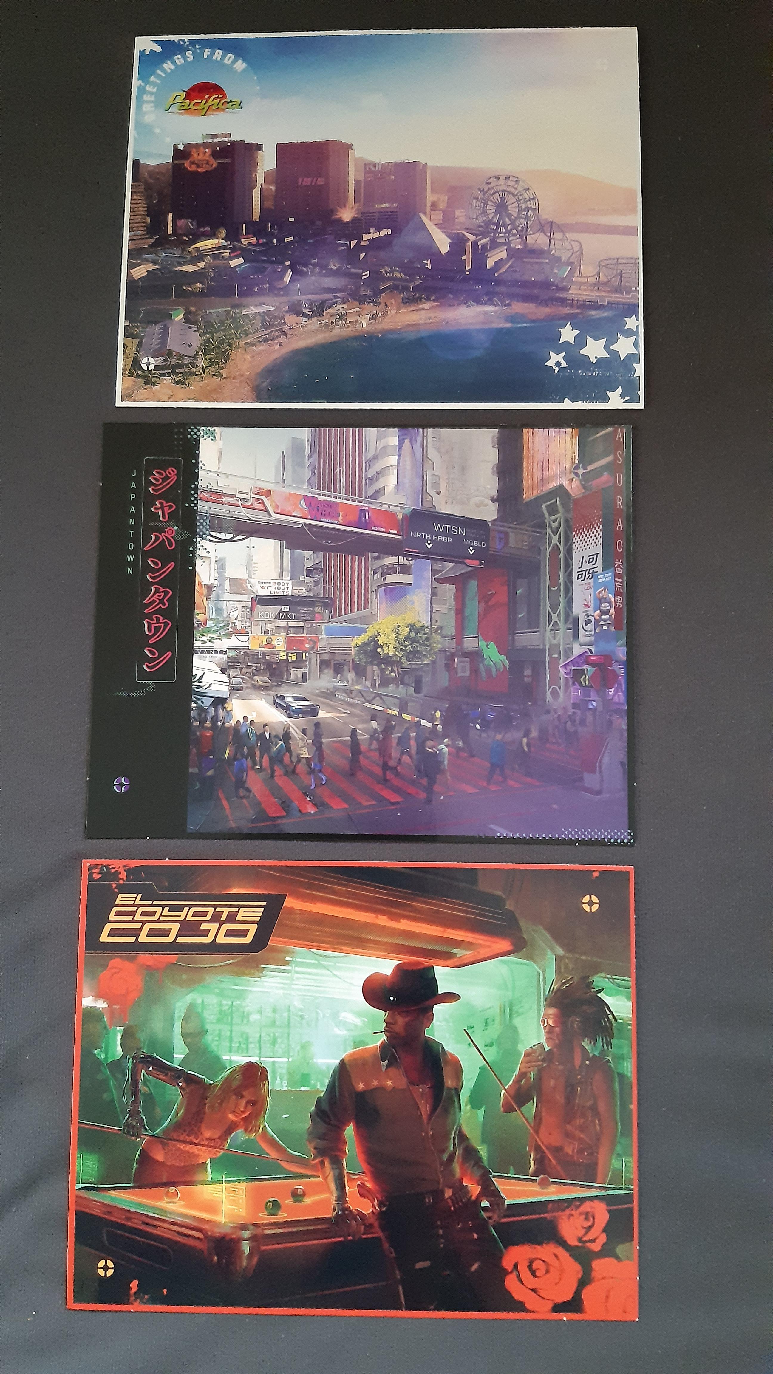 Утечка: Карта Найт-Сити и открытки из физического издания Cyberpunk 2077