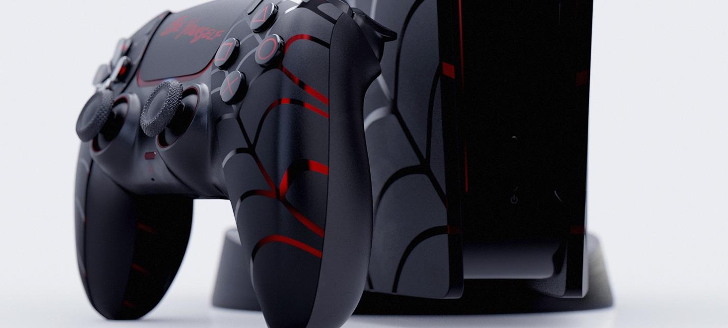Фанатский дизайн PS5 в стиле Spider-Man: Miles Morales