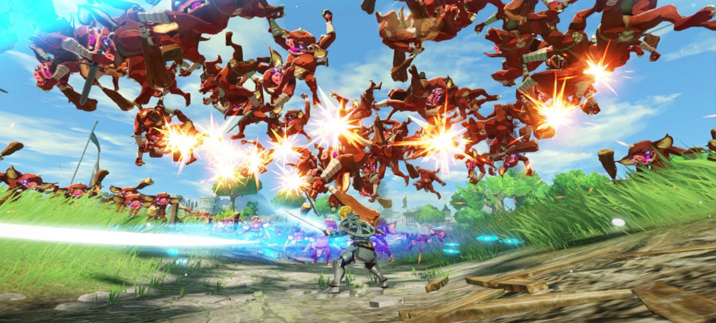 Кооперативные сражения, карта мира и боссы в геймплее Hyrule Warriors: Age of Calamity