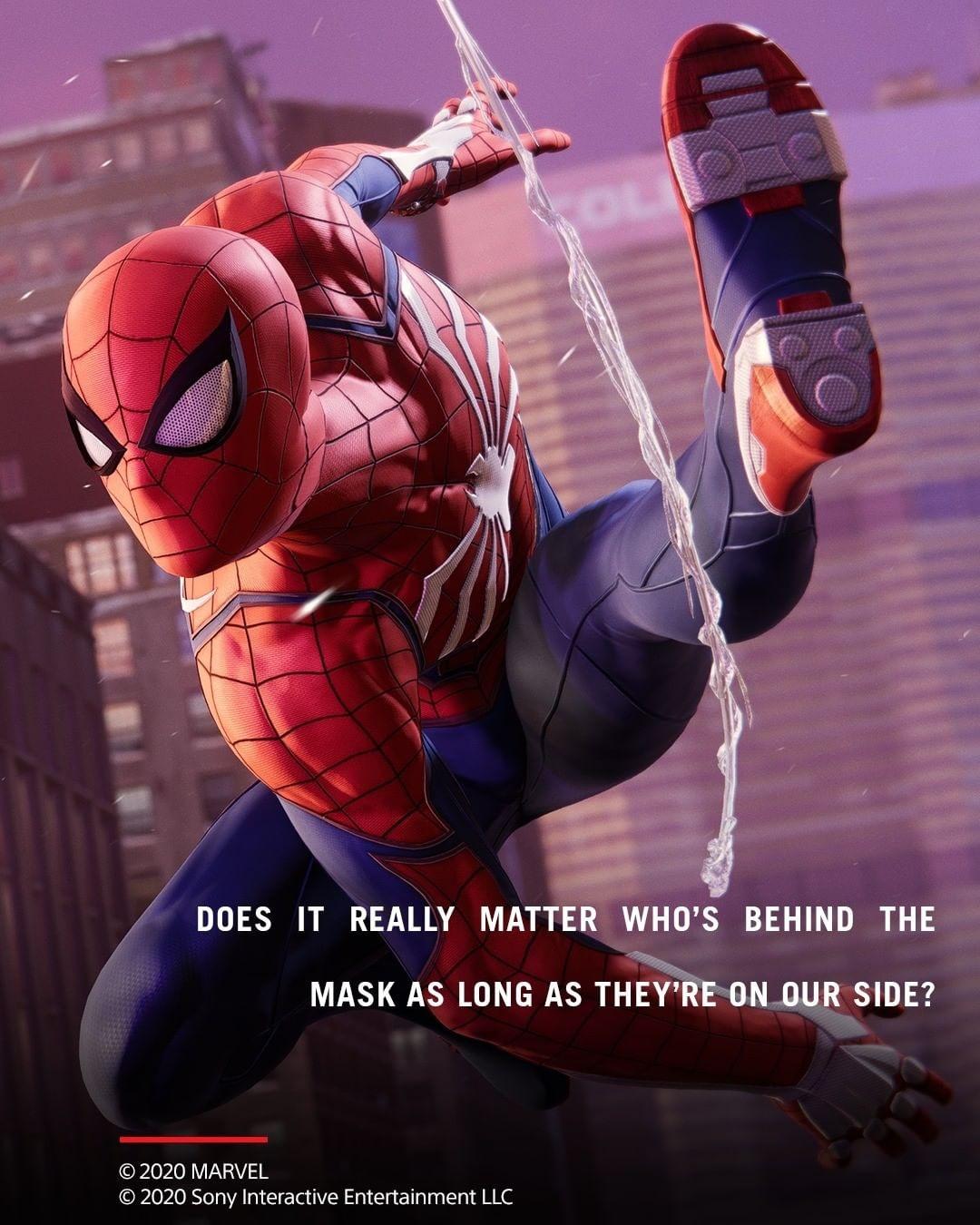 Два Паука на одном кадре из Spider-Man: Miles Morales