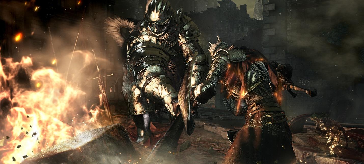На стримера каждый раз брызгала кровь, когда он получал урон в Dark Souls 3