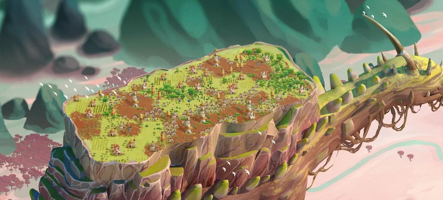 Создание поселения на спине огромного животного в первом трейлере стратегии The Wandering Village