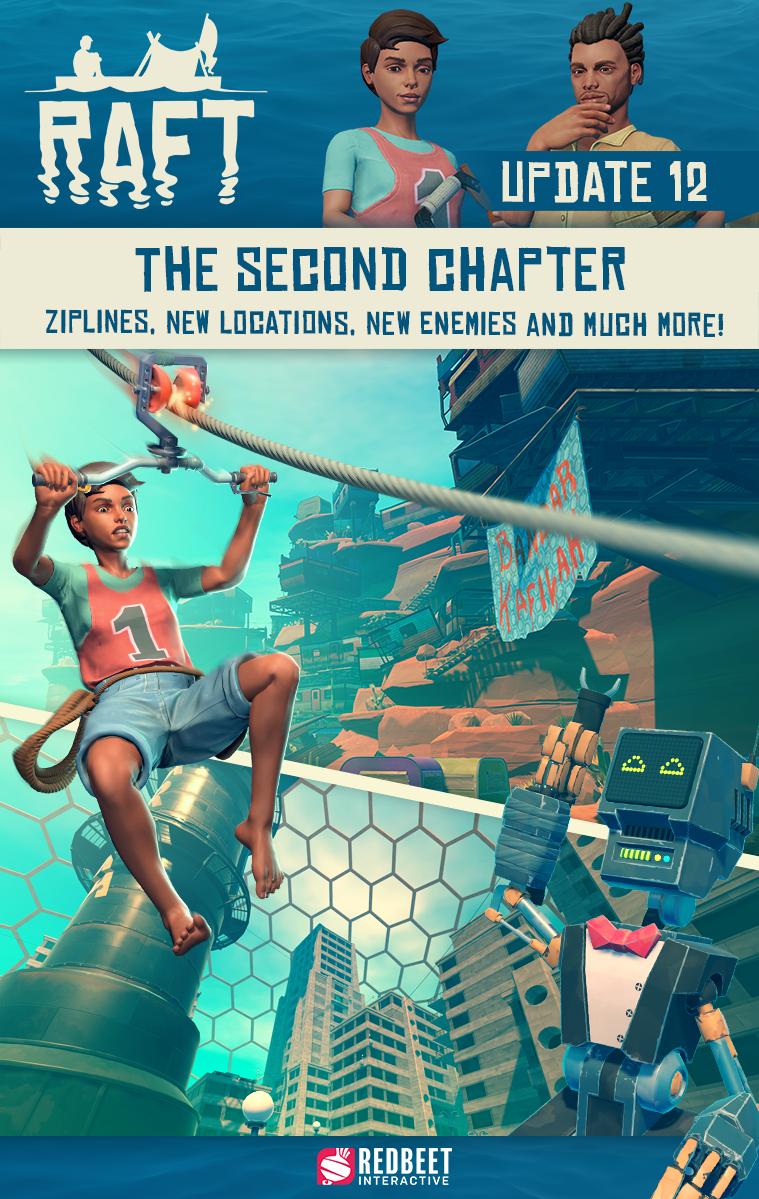 Количество игроков Raft выросло на 1300% после начала второй главы