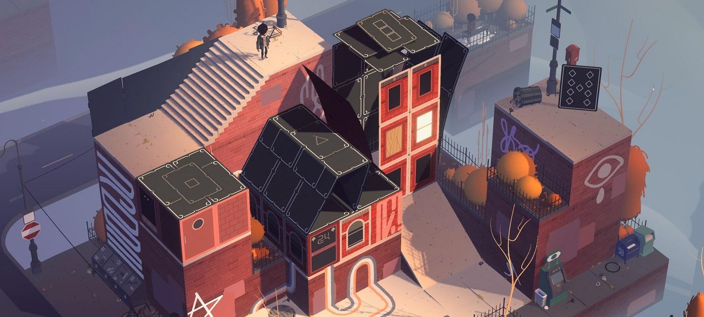 Строительство карточных домов в трейлере головоломки Where Cards Fall