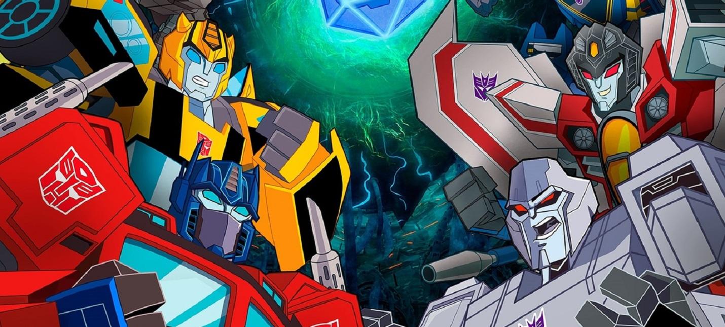 Бамблби против десептиконов в стартовом геймплее Transformers Battlegrounds