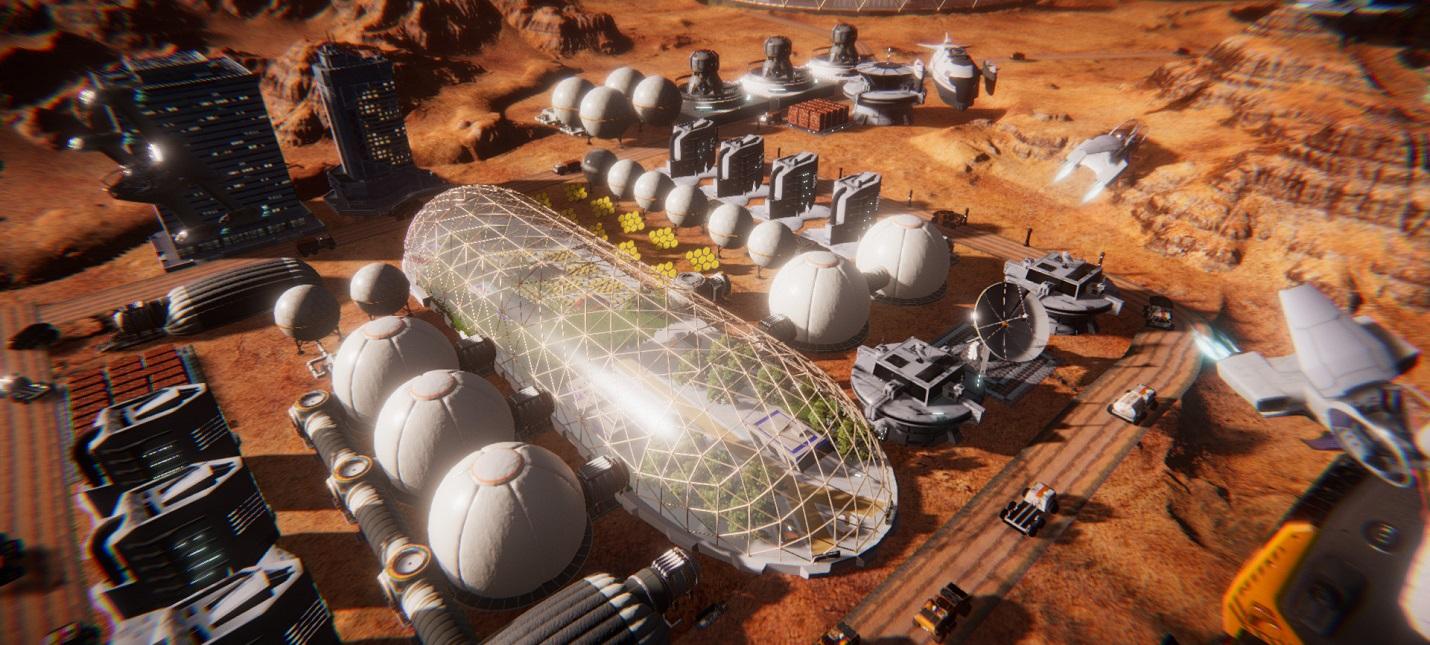 Терраформирование и развитие колонии на Марсе в трейлере стратегии Mars Colony Builder
